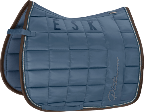 Eskadron BIG SQUARE GLOSSY Dressage Platinum 20 Saddle Pad-Vintage Blue