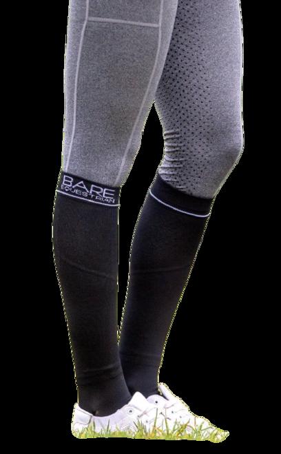 BARE Equestrian Compression Sock - Logo - Black Adults