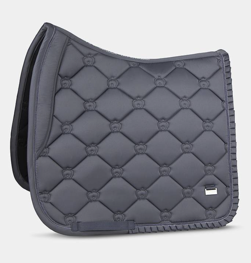 PS of Sweden Dressage Saddle Pad - Grey Ruffle