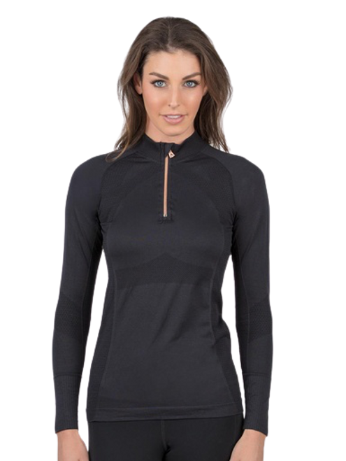 Anique Signature Sun Shirt - Black Swan with Rose Gold