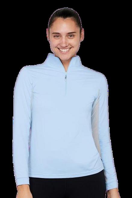 EIS Cool Women's Solid Long Sleeve Shirt - Powder Blue
