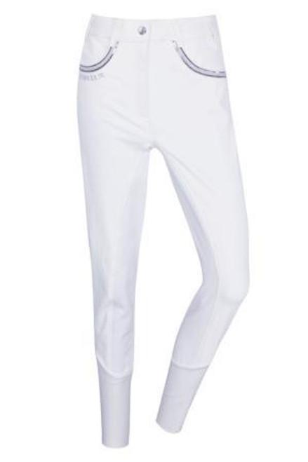Harcour Unita Full Seat Breeches - White