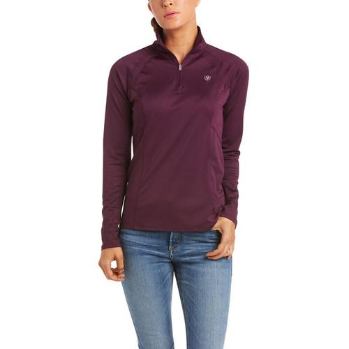 Ariat Sunstopper 2.0 Women's 1/4 Zip Long Sleeve Shirt - Italian Plum