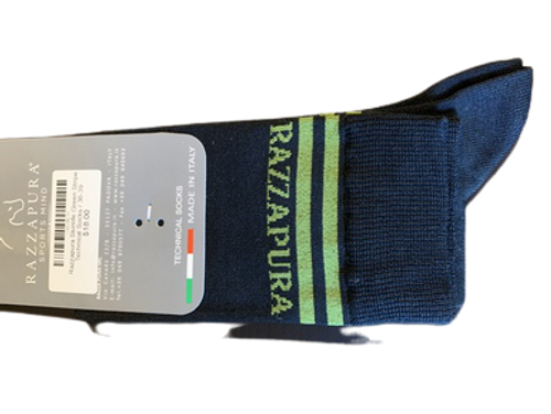 Razzapura Skinlife Green Stripe Technical Socks
