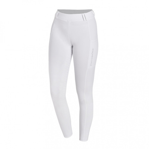 Schockemoehle Glossy White Competition Riding Tights Style