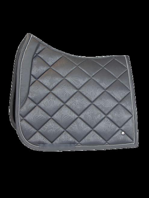 PS of Sweden Floret Dressage Saddle Pad - Grey