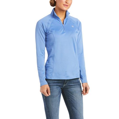 Ariat Sunstopper 2.0 Women's 1/4 Zip Long Sleeve Shirt - Blue Yonder