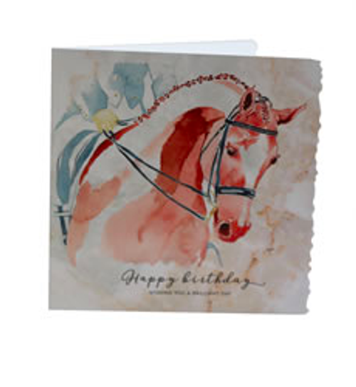 Deckled Edge Happy Birthday Dressage Cards