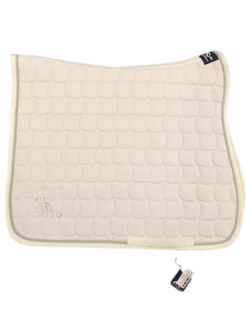 Anna Scarpati Quim Dressage Saddle Pad - White