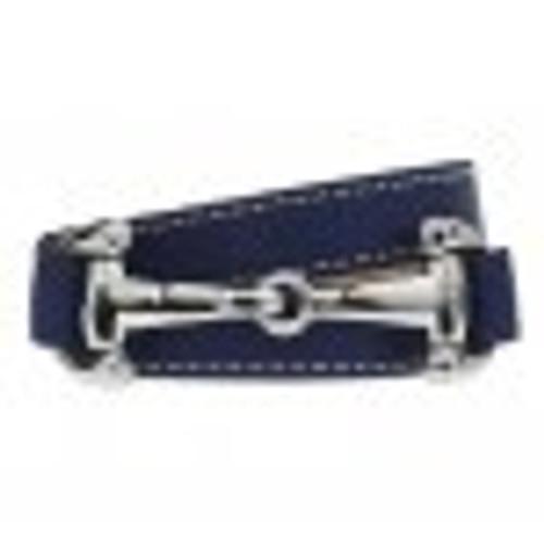 Dimacci Burghley Triple Wrap Bracelet w/ Stainless Steel  Bit - Leather Strap
