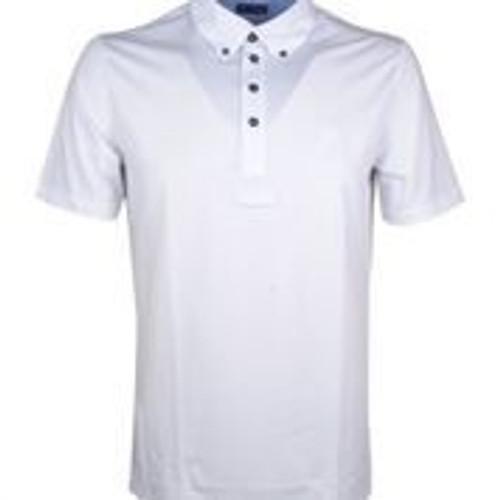 Anna Scarpati Gingio/18 Men's Short Sleeve Polo - White