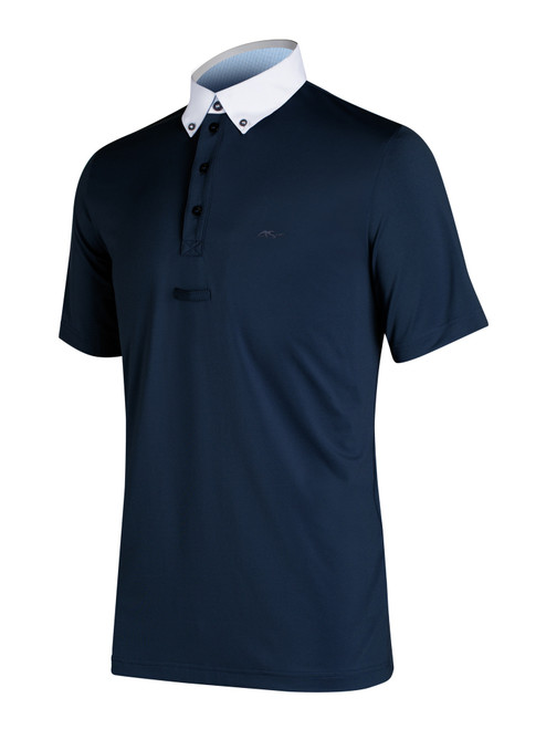 Anna Scarpati Gingio/18 Men's Short Sleeve Polo - Black