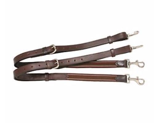 Statelinetack Leather Elastic Side Reins