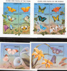 Liberia (1998)- Butterflies & Flowers- 2 sheets of 6v & 2 s.s.