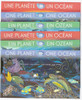 UNITED NATIONS(2010)- One Planet One Ocean- souvenir sheets- sharks- turtles- dolphins- fish- coral (6)