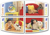 CANADA (2004)- Pets, booklet of  8 self adhesive stamps - Cat, Dog, etc.