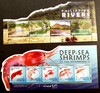 PHILIPPINES (2020) 3 Unusual Shaped Sheets , Mushrooms, Shrimp, Rivers  LAST ONES