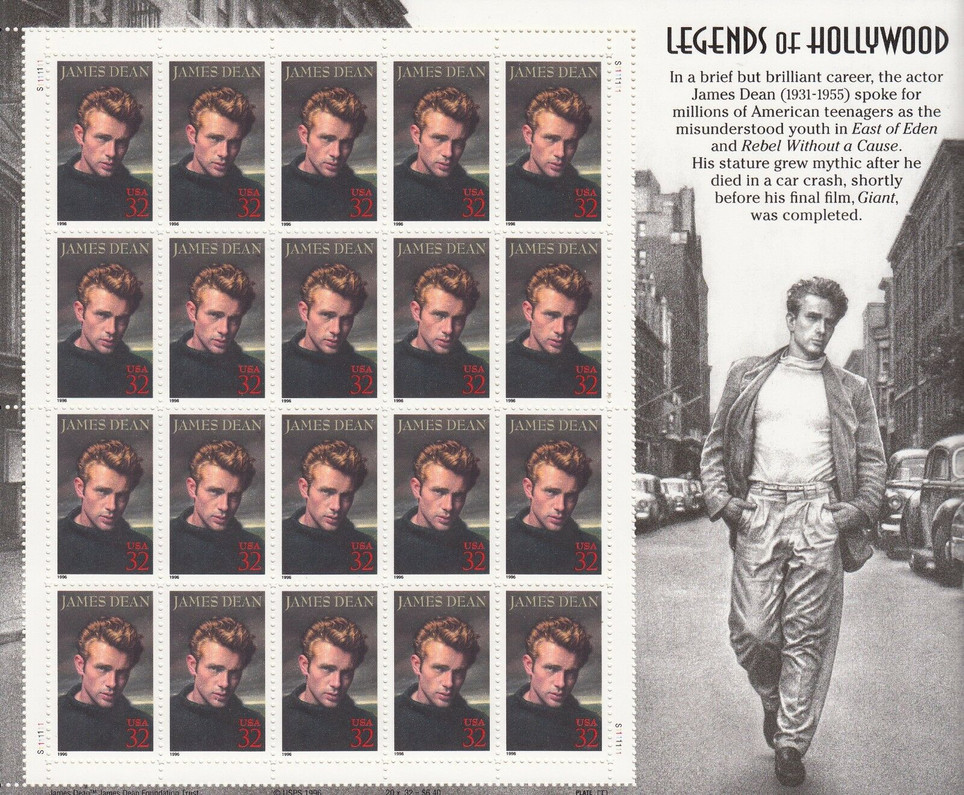 THE REBEL WITHOUT A CAUSE- JAMES DEAN INCLUDED IN THE LEGENDS OF HOLLYWOOD SERIES