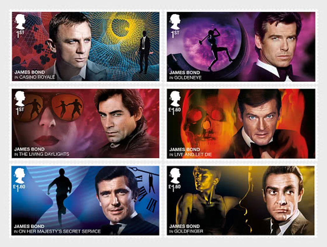 THE MANY FACES OF BOND- GREAT BRITAIN CELEBRATES THE 25TH FILM OF THEIR MOST FAMOUS AGENT!