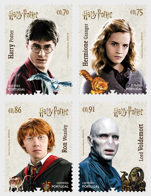 PORTUGAL JOINS  THE WORLDWIDE PHILATELIC CRAZE WITH HARRY POTTER MAGIC