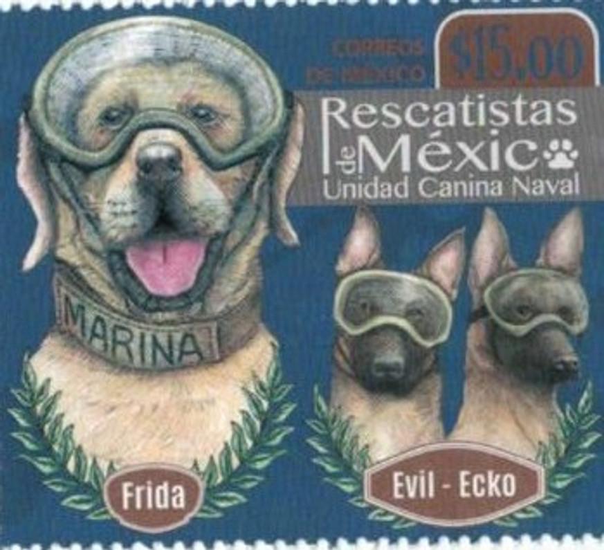 WORLDWIDE DOG STAMPS CELEBRATE BARKING HEROES