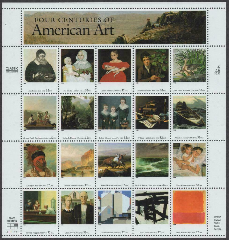 AMERICAN ART ON STAMPS-- A VARIED PERSPECTIVE