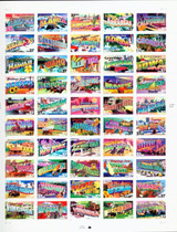 Greetings From America Postage Stamps
