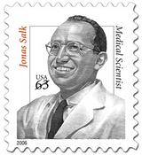 Dr. Jonas Salk Honored On Stamp
