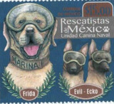 WORLDWIDE DOG STAMPS CELEBRATE BARKING HEROES