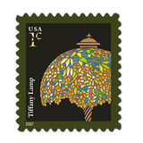 Tiffany Lamp On A Postage Stamp