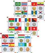 United Nations Coin and Flag Sheet
