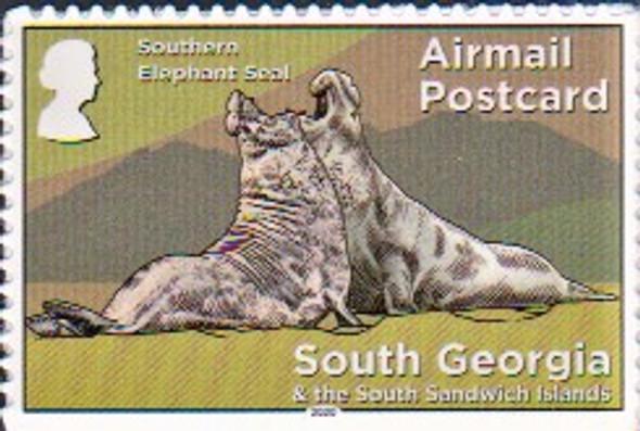 SOUTH GEORGIA  (2020)- Air Mail Stamp- Elephant Seals