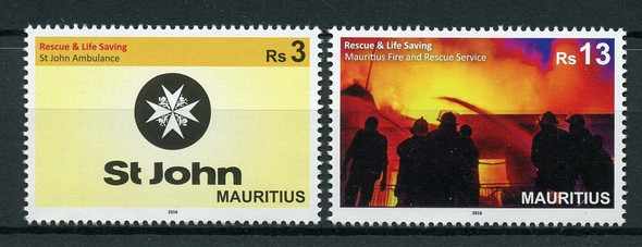 MAURITIUS (2020)- Fire Prevention & Ambulance Service (2v)