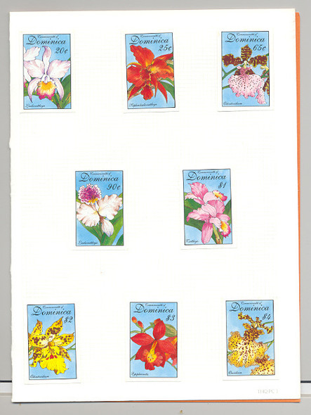 DOMINICA (1994)- ORCHIDS- 8 VALUES