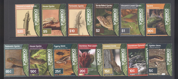 DOMINICA (2011)- Lizard Definitives- geckos- skink- anole- iguana (13)