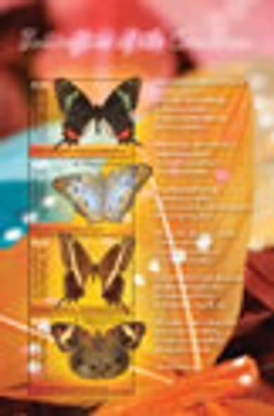 DOMINICA- Butterflies of the Caribbean- Sheet of 4