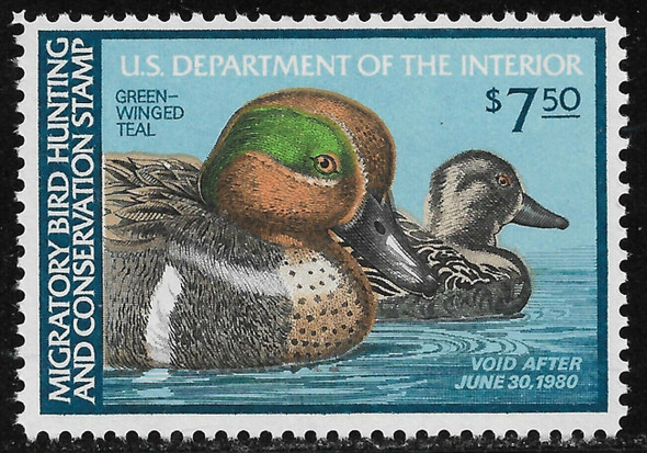 US (1979)- RW46- Green Wing Teal- Duck Hunting Stamp- Mint