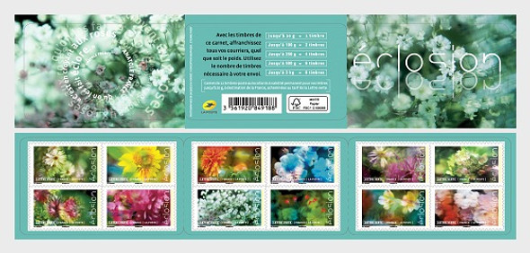 FRANCE (2019)- BLOOMING FLOWERS BOOKLET OF 12v