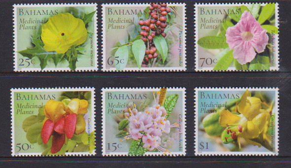 BAHAMAS (2020)- Medicinal Plants (Flowers)- 6 values