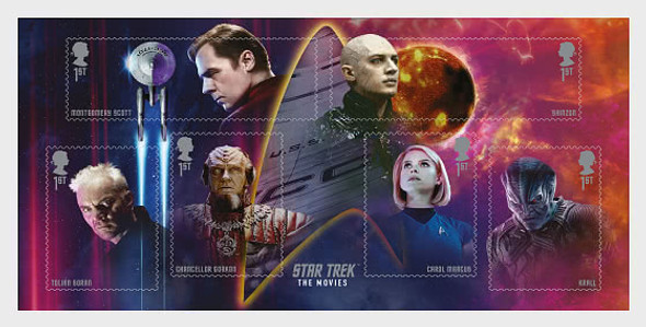 GR. BRITAIN (2020)- Star Trek Set of 12 & Souvenir Sheet