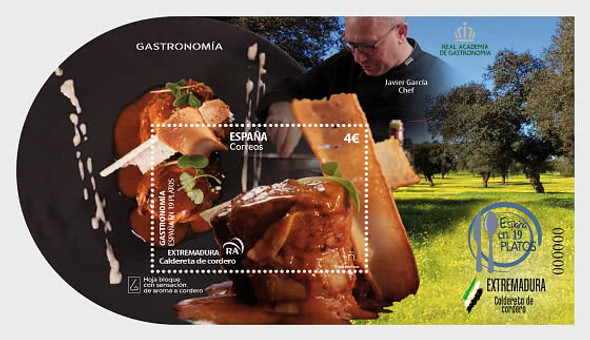 "SPAIN (2020)- ""GASTRONOOMIA""- Chef w/Food Sheet (Unusual)"