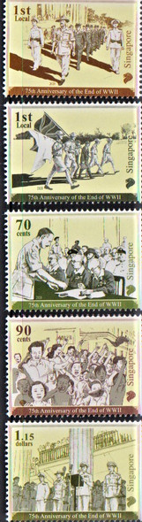 SINGAPORE (2020)- WWII Anniversary (5 values)