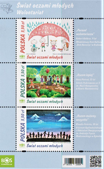 POLAND  (2020)- Child Art Sheet of 3v