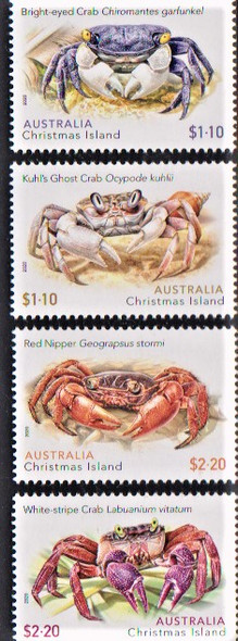 CHRISTMAS ISLAND (2020)- CRABS (Sheet of 4v + 4v)