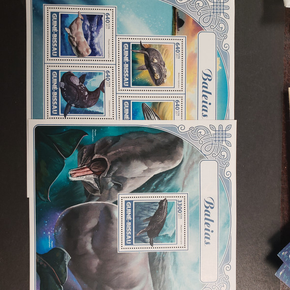 MARINE MAMMALS Sheet and SS Collection , Whales, Dolphins, Retail $90
