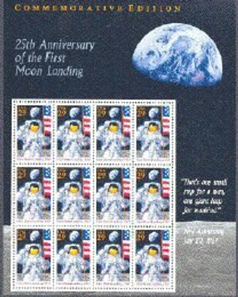 US (1994)- -25th Anniversary of Moon Landing- Sheet of 12v #2841