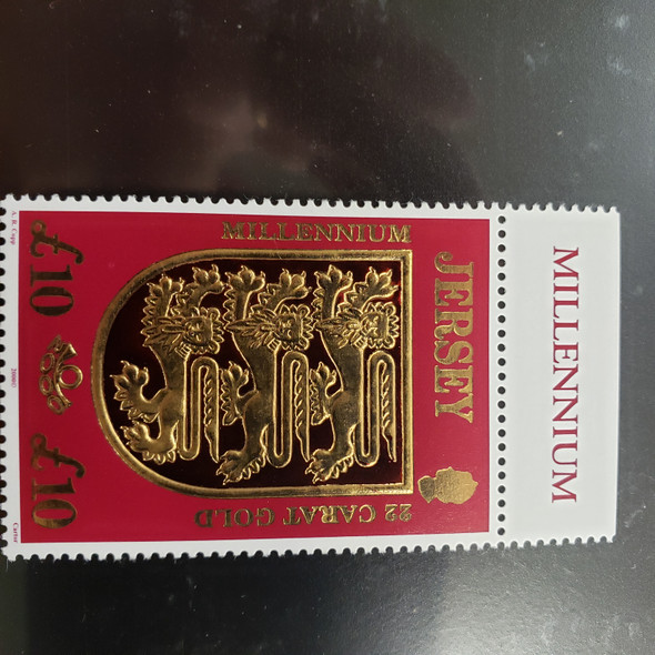 JERSEY (2000) Embossed Gold Foil Coat Of Arms LAST ONE
