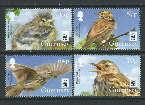 GUERNSEY (2017)-- WWF Meadow Pilot Bird (4v)