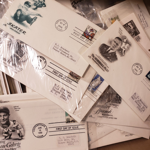 US FDC HOARD , 1000 + Addressed , 1950s - 1990s  Most ARTCRAFT Some UN NY