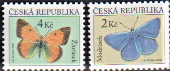 CZECH REP. (2021)- Butterfly Definitives (2v)
